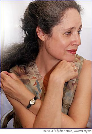 Táňa Fischerová jako poslankyně klubu US-DEU v roce 2003. Foto Štěpán Kotrba